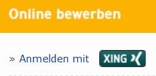 Bewerbung per XING-Connect-Button